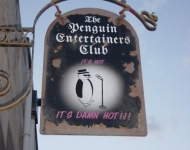 penguin club sign